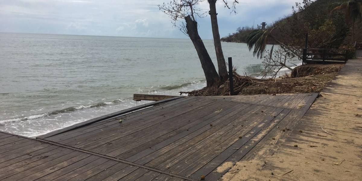 Impactada la costa oeste de la isla tras el paso del huracán María