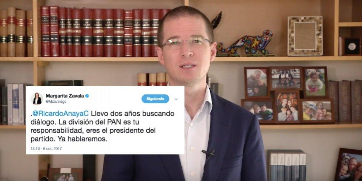 Zavala y Anaya se enfrentan en Twitter por posible salida del PAN