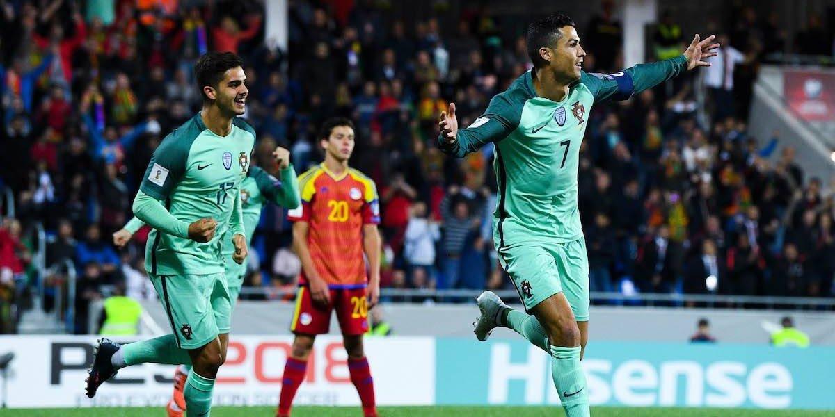 Cristiano revive la esperanza de Portugal por el pase directo a Rusia