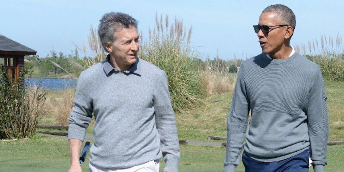 VIDEO. Captan momento privado en que Mauricio Macri y Barack Obama juegan golf