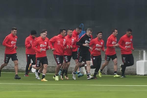 Entrenamiento Selección Chilena