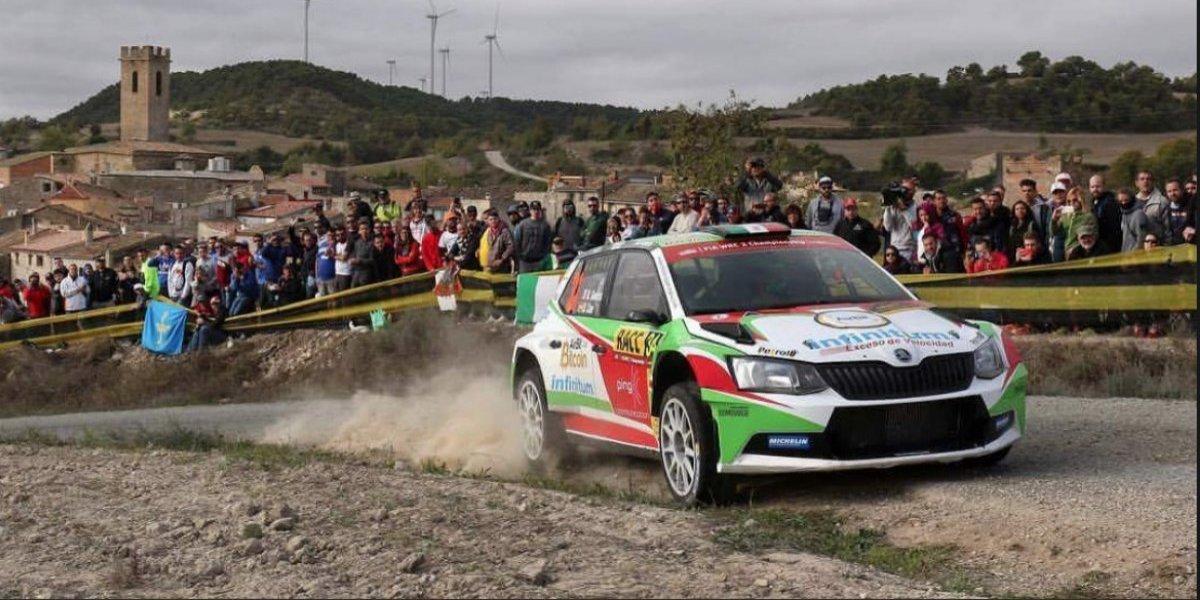 Benito Guerra sube al podio de la WRC 2 en España