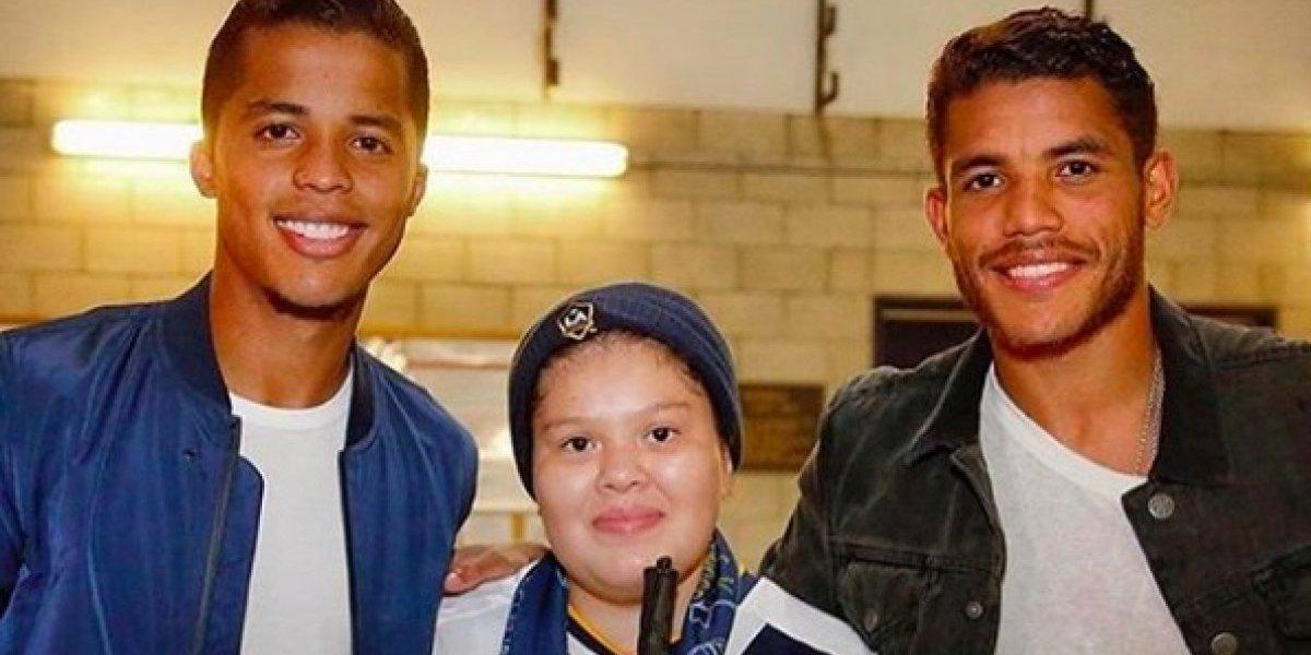 Hermanos Dos Santos dedican emotivas palabras a niña con cáncer