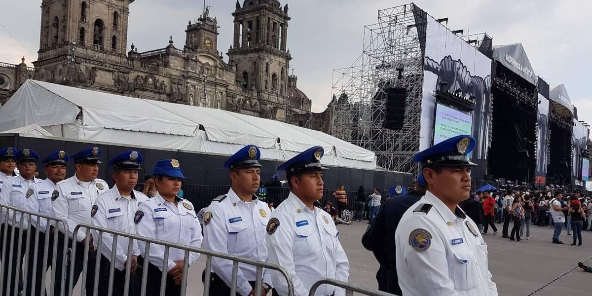 Despliegan tres mil policías por concierto Estamos Unidos Mexicanos