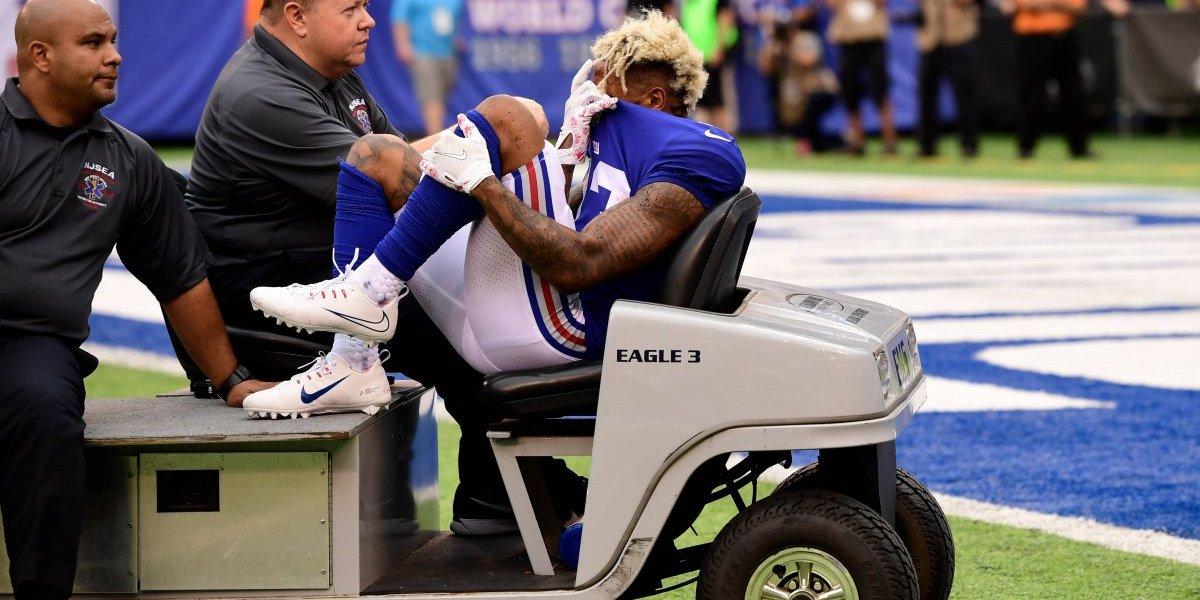 La terrible lesión de Odell Beckham
