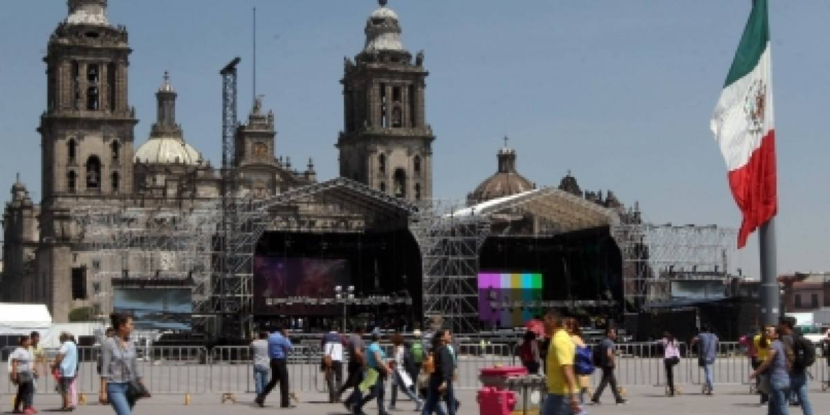Cierran vialidades en el Centro Histórico por concierto Estamos Unidos Mexicanos