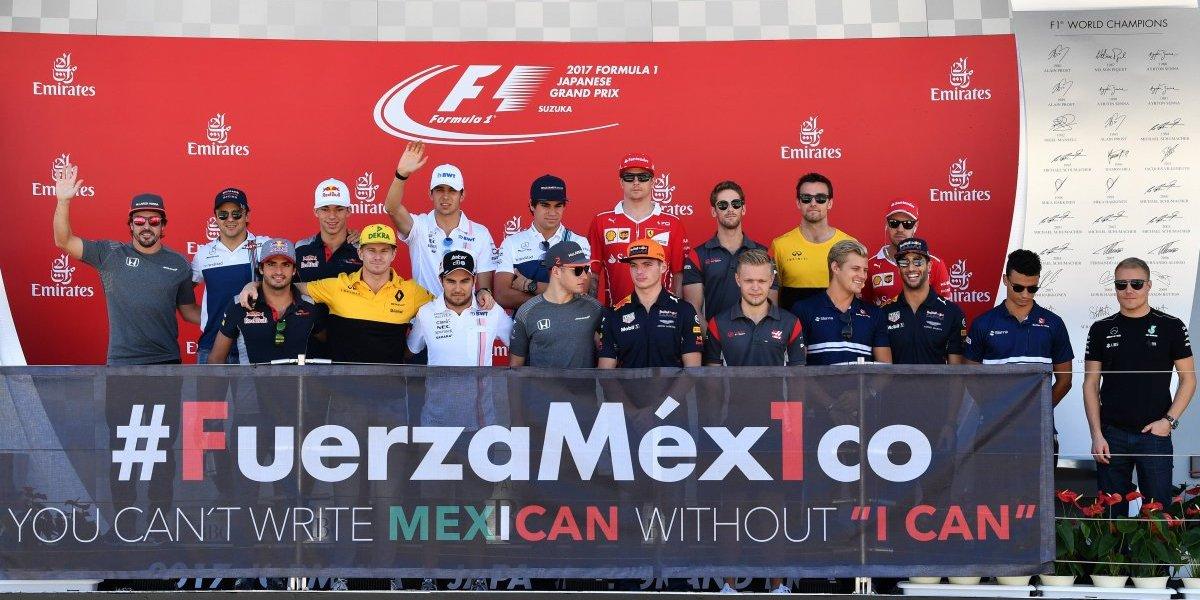 FOTOS: La comunidad de Fórmula 1 se une en apoyo a México
