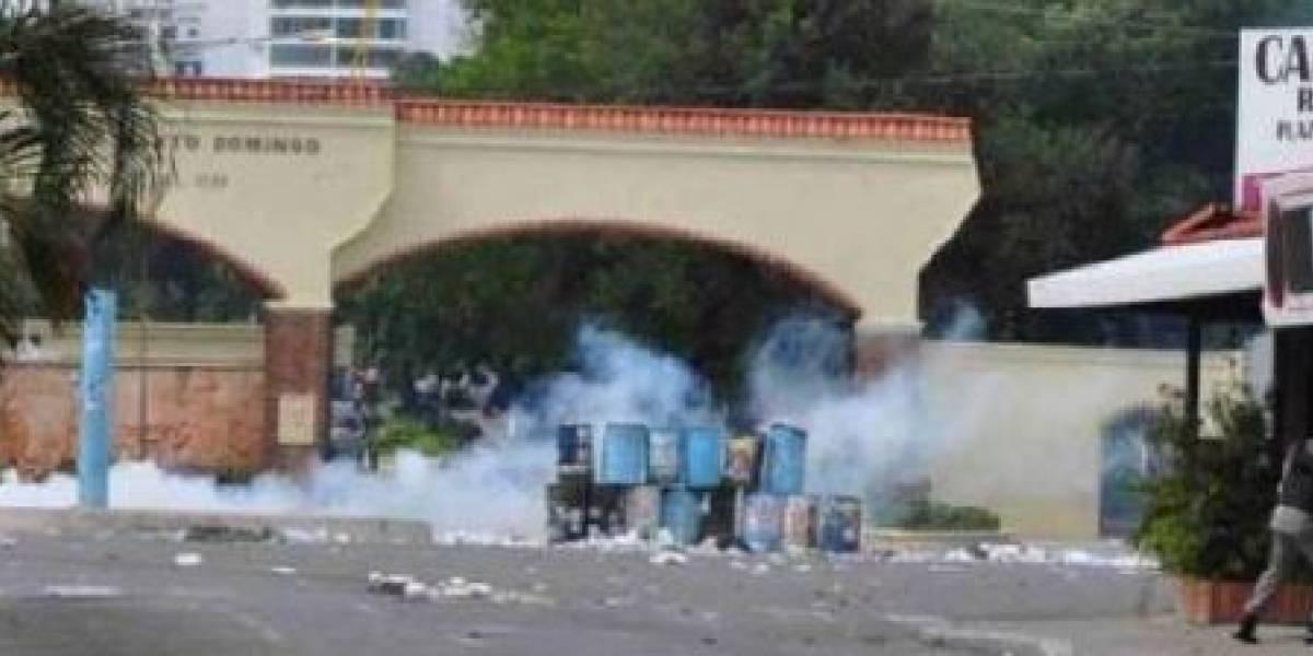 Suspenden la docencia en la UASD por disturbios en la sede central