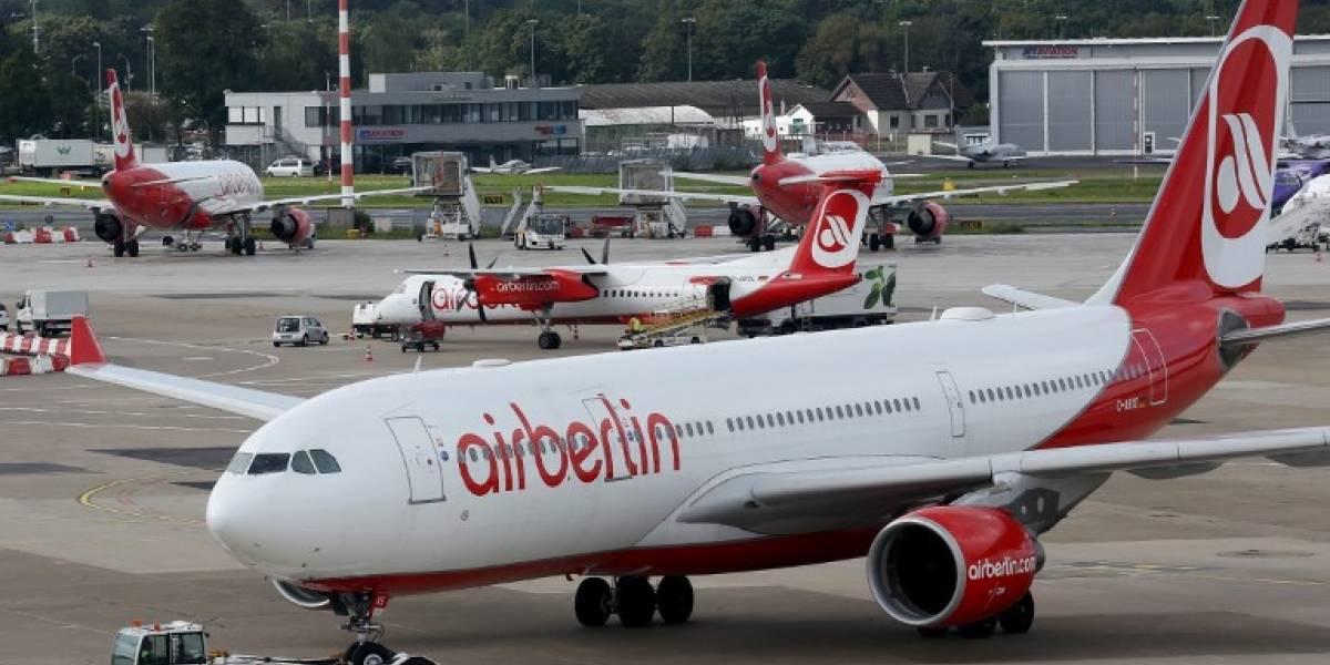 Quebrada aerolínea alemana deja de operar a fin de mes