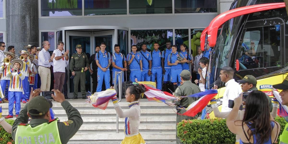 La Banda de Baranoa despidió a la Selección Colombia en Barranquilla