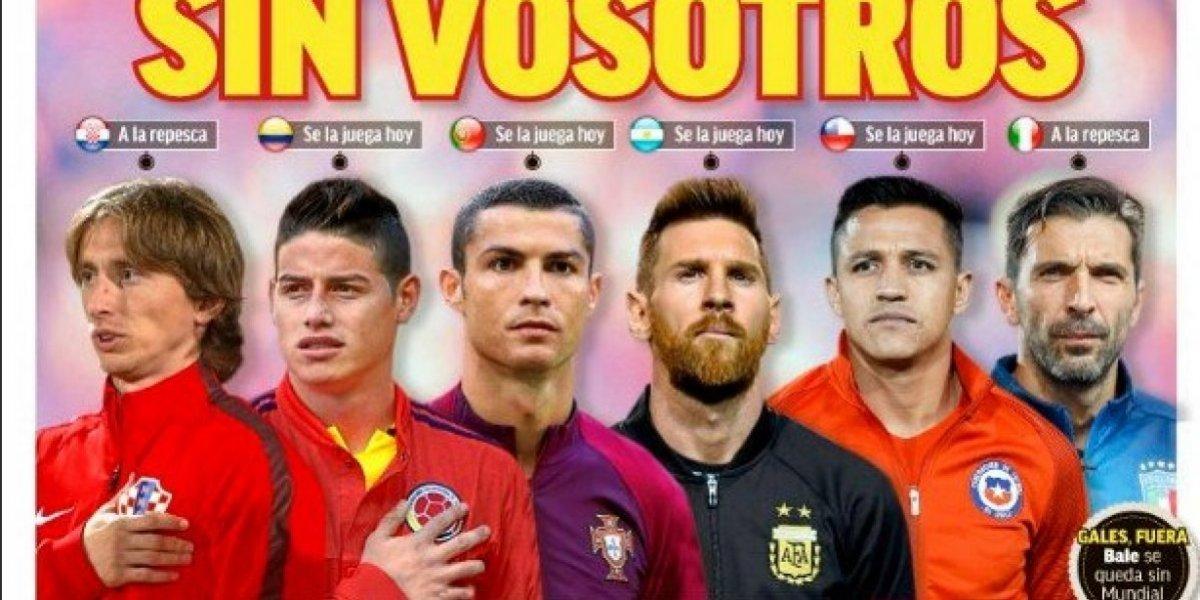 La portada de Marca no puede creer que James se vaya a perder el Mundial