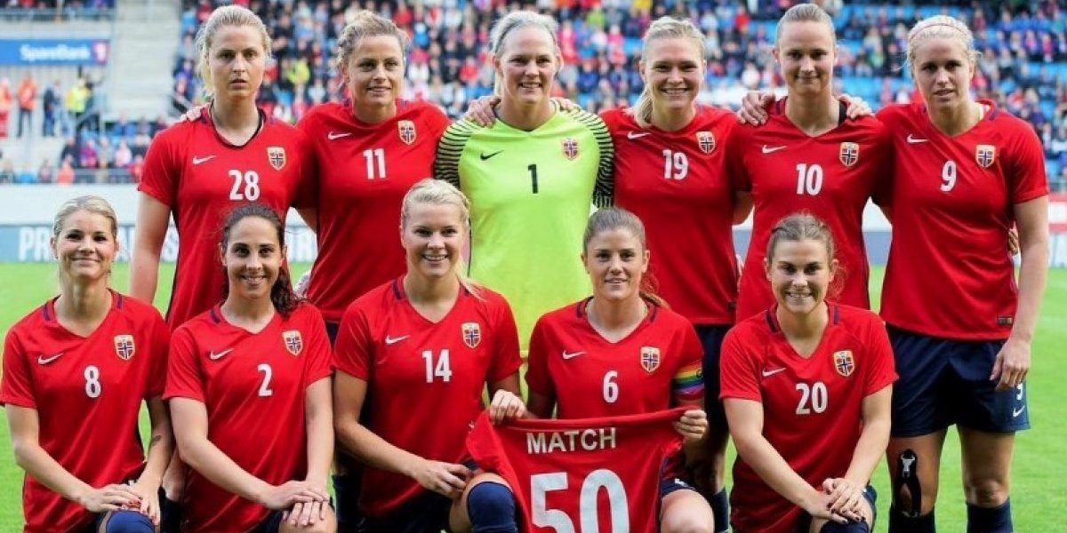 Selección femenil de Noruega cobrará lo mismo que la varonil
