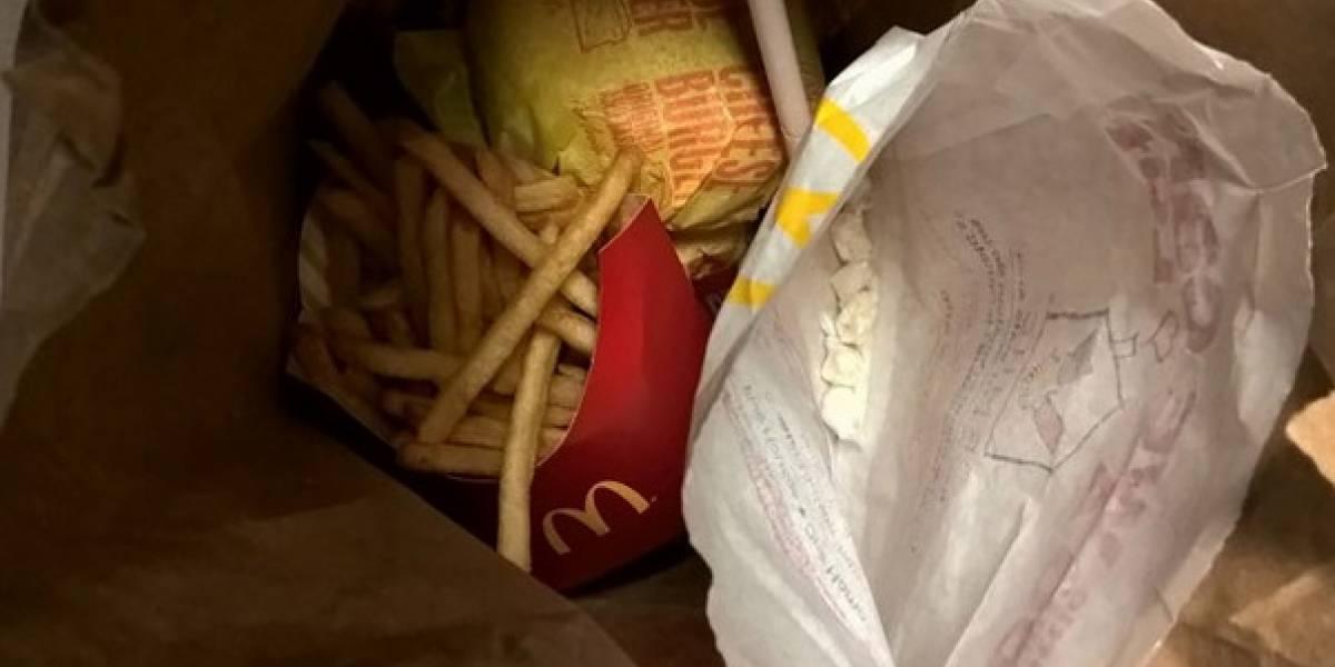 Detienen a gerente de un McDonald's por vender cocaína en cajitas felices