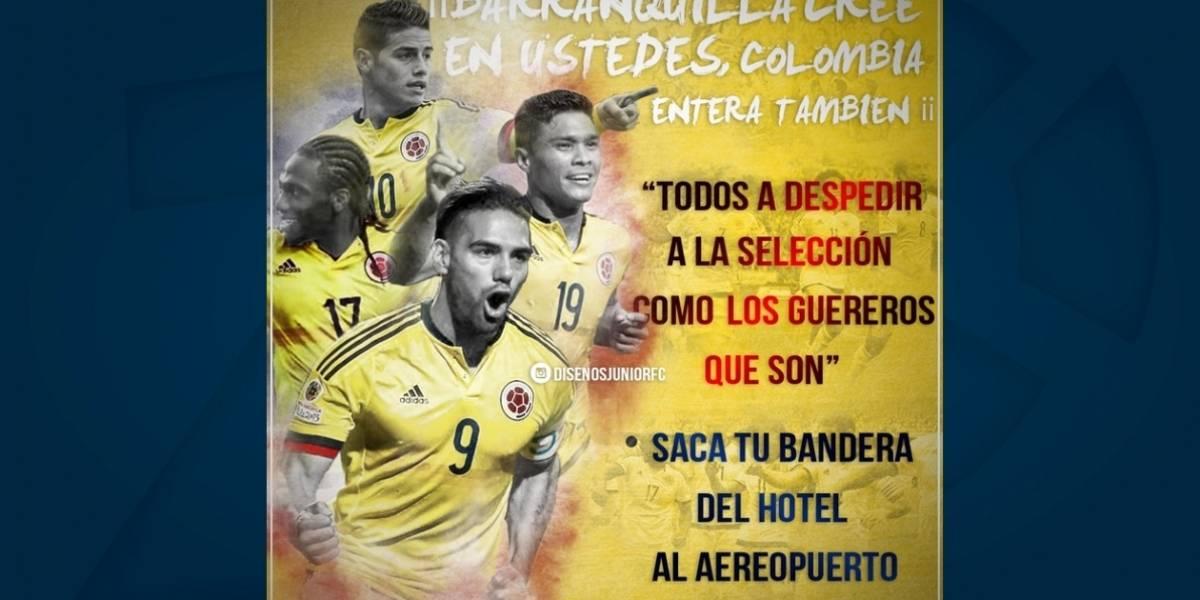 Con caravana hinchas despedirán a la Selección Colombia en Barranquilla