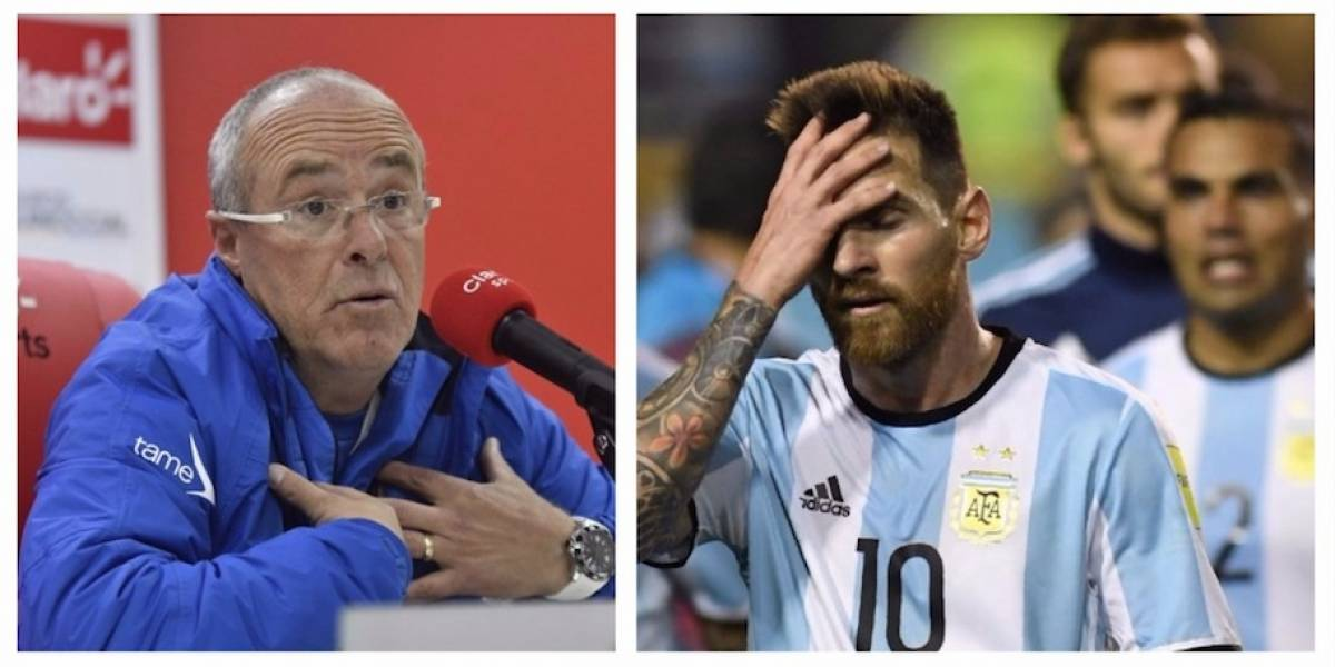 Técnico de Ecuador le recuerda una dura verdad a Argentina antes de crucial partido
