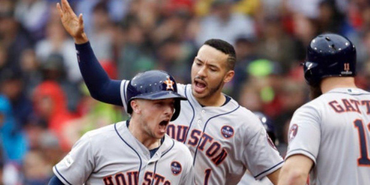 Astros eliminan a Medias Rojas y avanzan a Serie de Campeonato