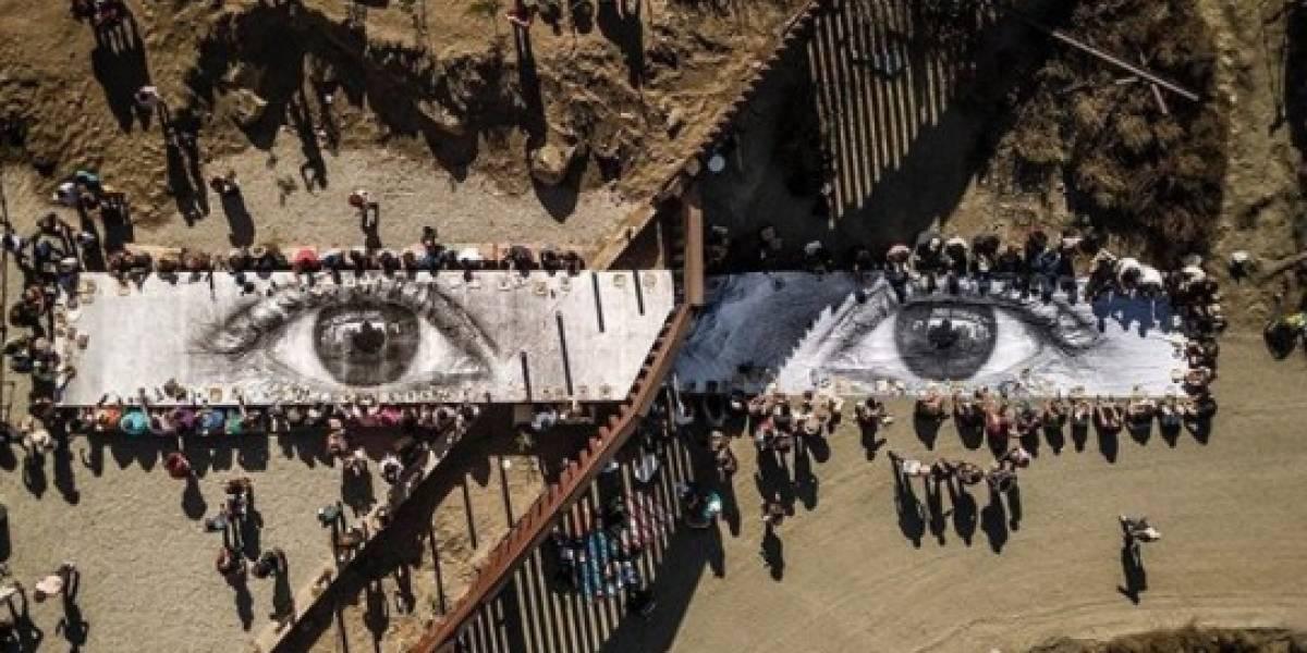 Celebran gran picnic ante los ojos de un 'dreamer' en la frontera México-EU