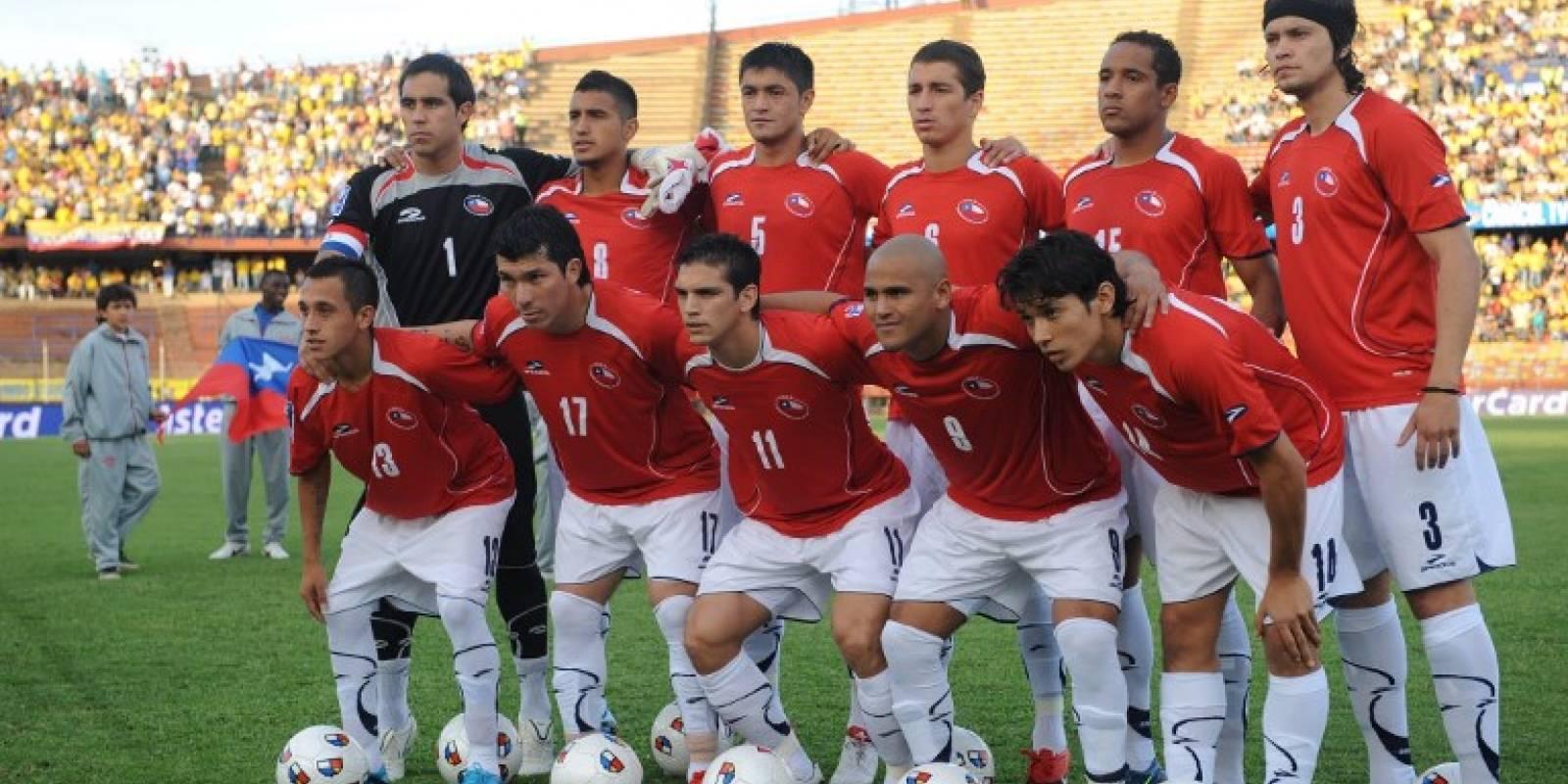 La Roja en la clasificación a Sudáfrica 2010 ante Colombia - AFP