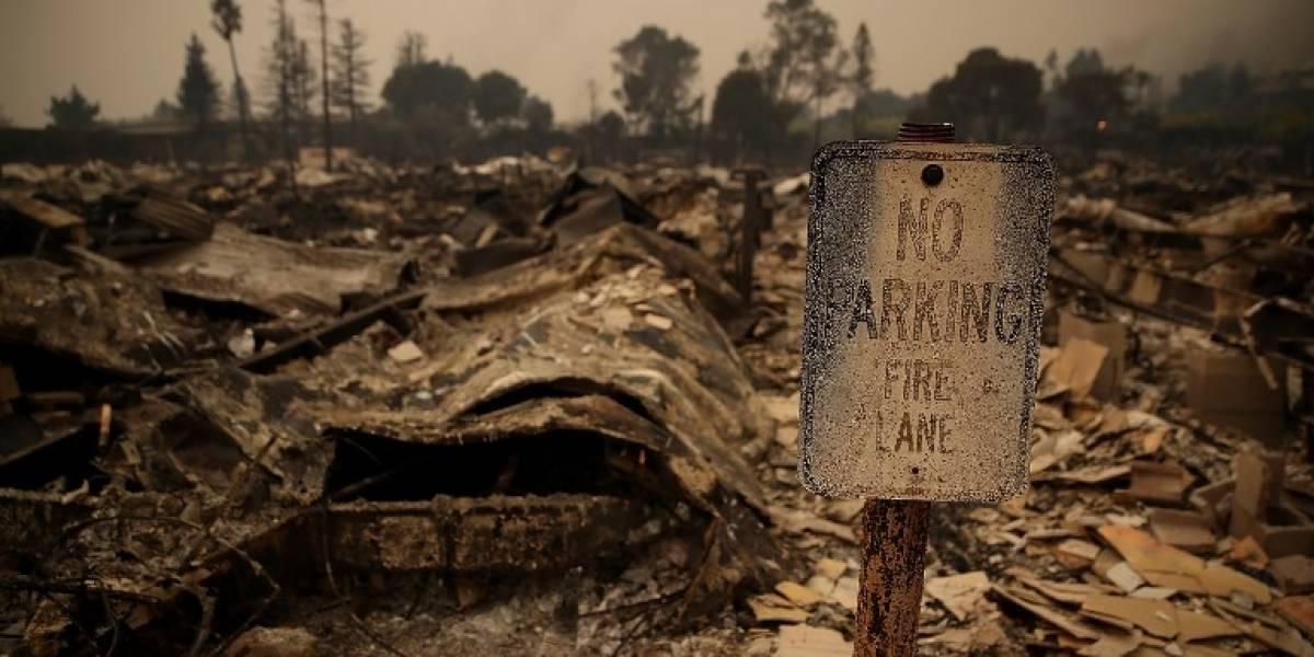 Las imágenes de la devastación que los incendios han causado en California