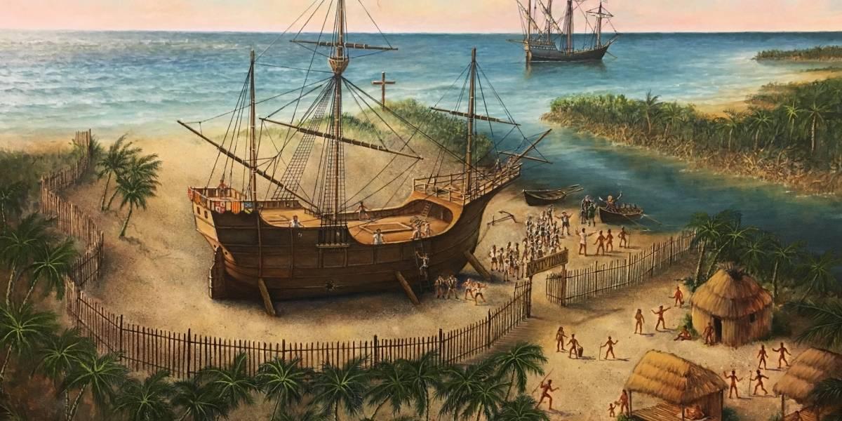 "Desvelan pintura sobre destino ""real"" de la Santa María de Colón"