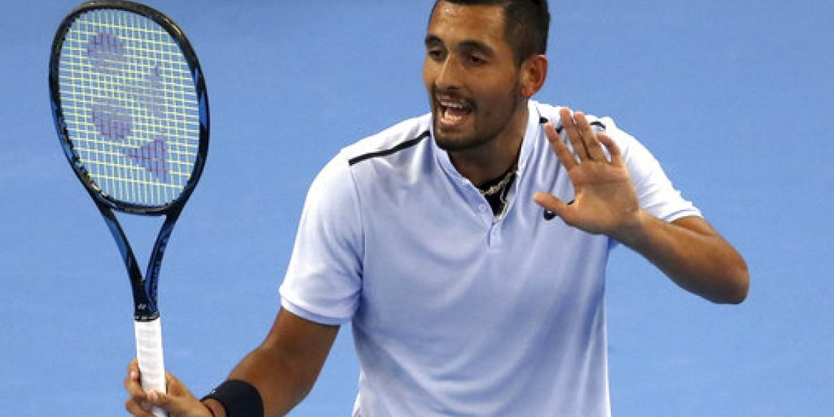 Multan a Kyrgios por incidente en el Masters de Shangai