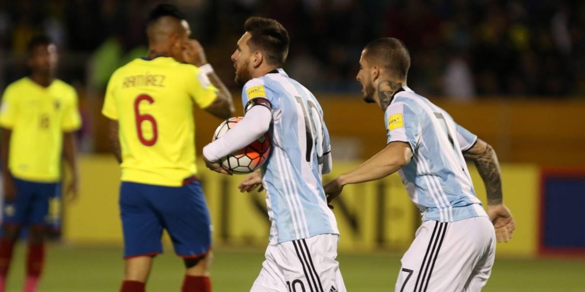 Ecuador cae 1-3 ante Argentina en el estadio Olímpico Atahualpa