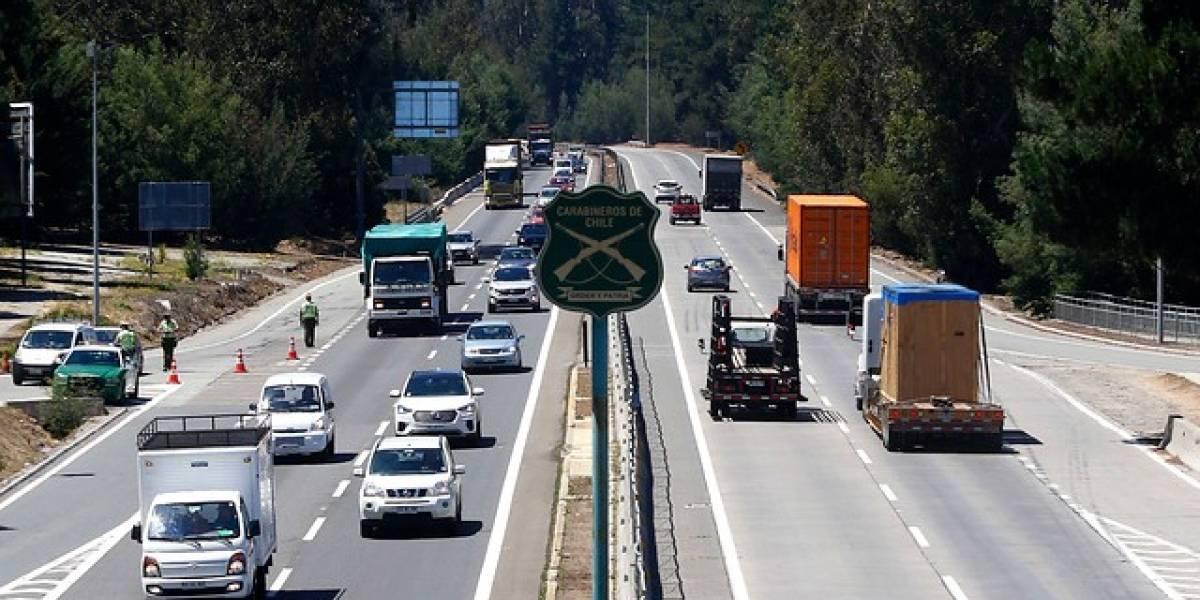 Fuerte disminución: 12 víctimas fatales dejan accidentes de tránsito en fin de semana largo