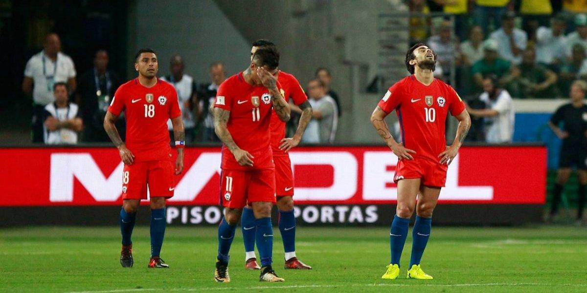 Un dolor eterno: un Chile sin sangre fue goleado por Brasil y la Generación Dorada se quedó fuera del Mundial