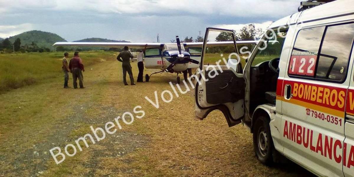 Avioneta con ministros de Salud, Agricultura y Comunicaciones, aterriza de emergencia en Salamá
