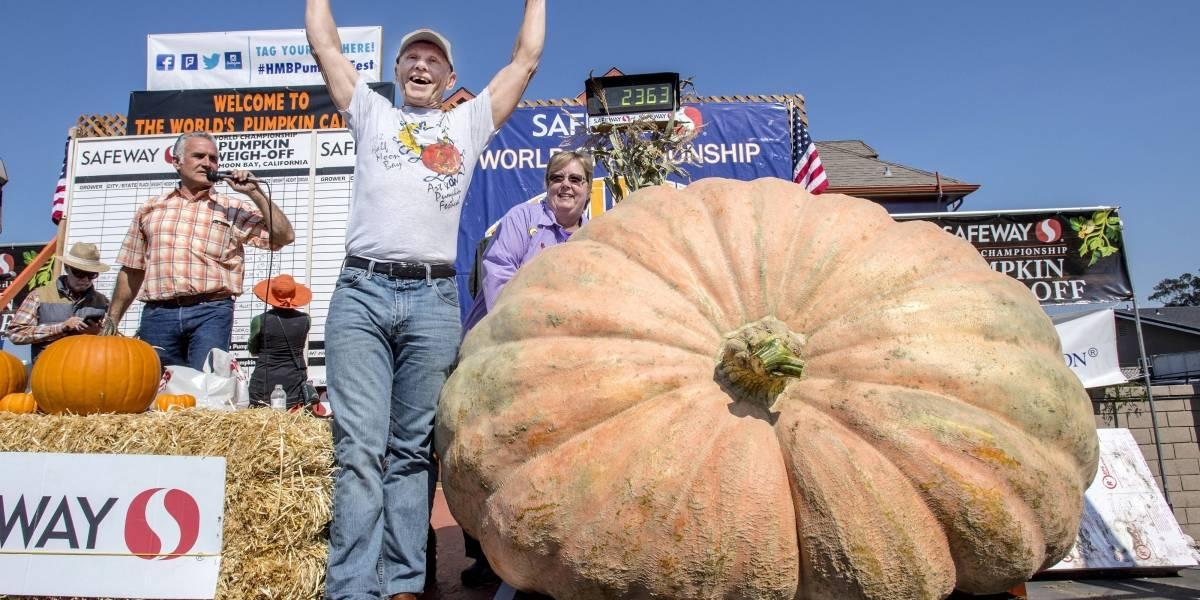 Granjero gana concurso en EE.UU. con calabacín de 2.118 libras