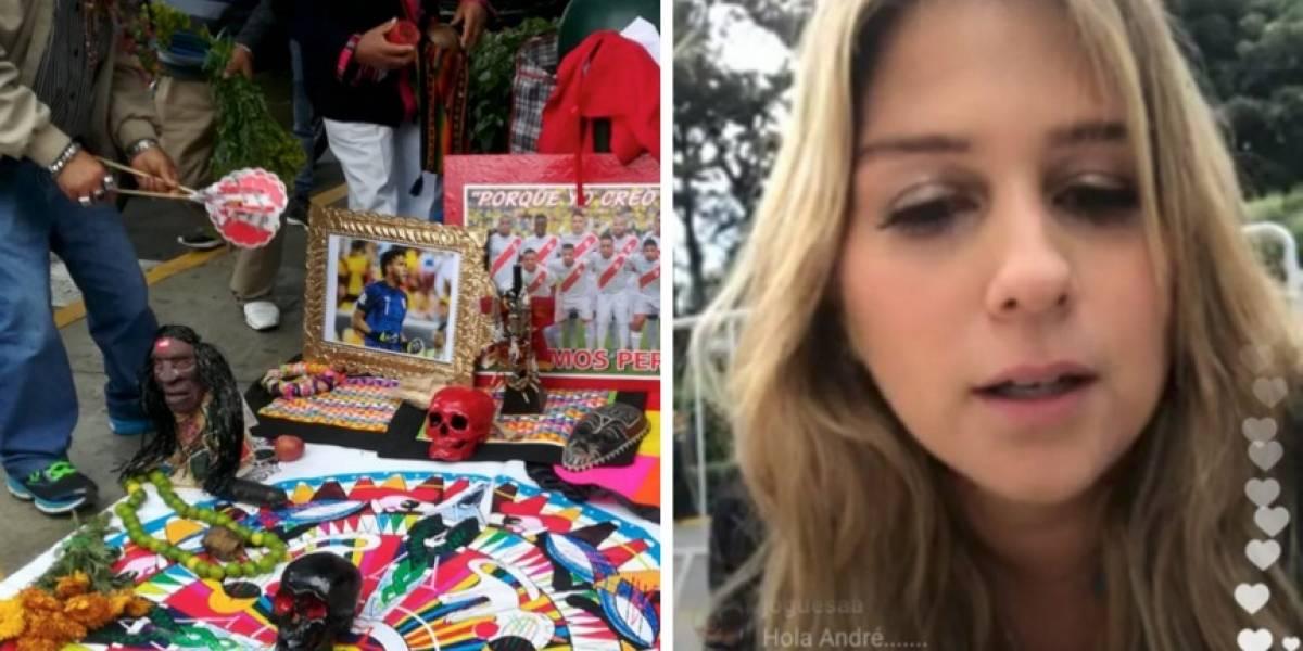 La brujería que los peruanos le hacen a la selección Colombia frente al hotel