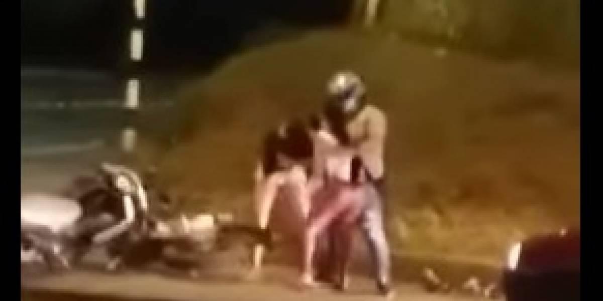 Video: La reacción de una mujer que descubrió a su esposo con otra en Villavicencio