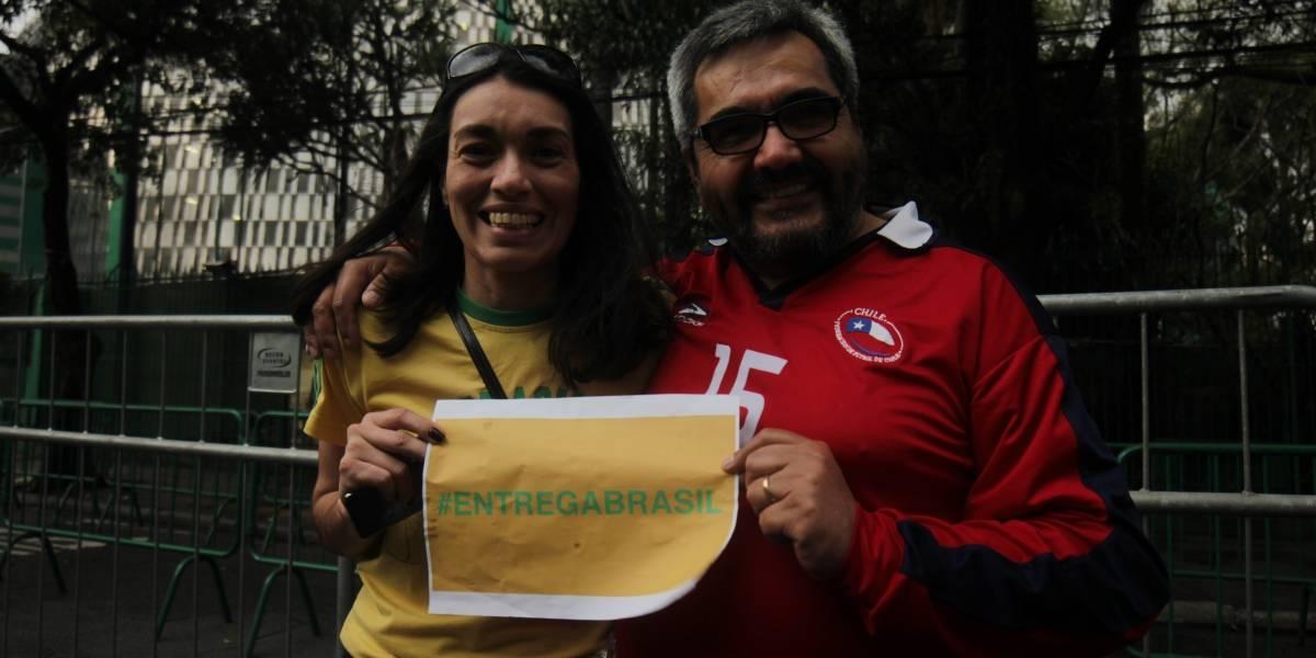 Hinchas brasileños y chilenos se unen en Sao Paulo con el #EntregaBrasil