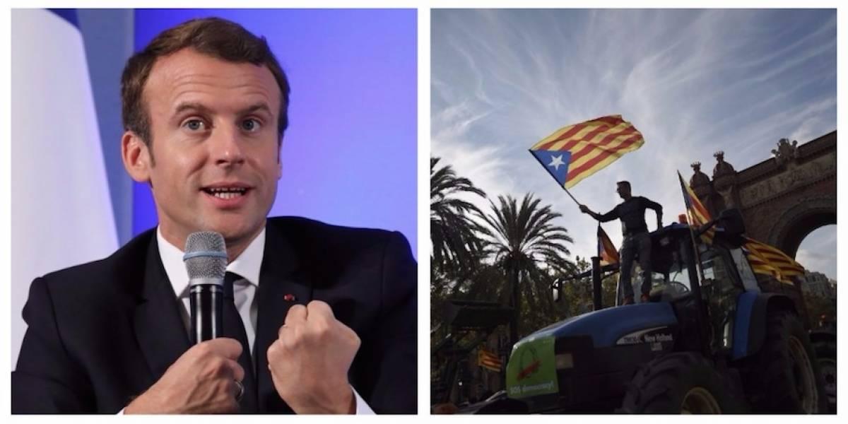 Francia confía en una solución pacífica para la crisis entre Cataluña y España