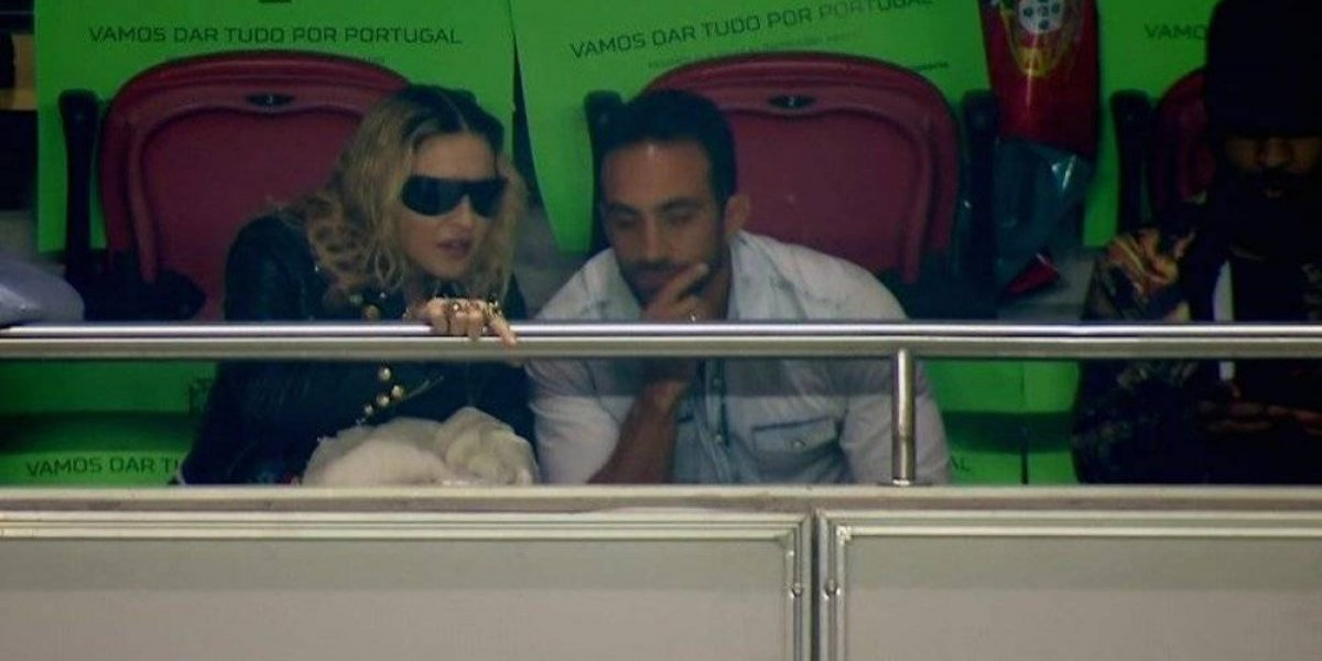 Madonna apoya desde las gradas a la selección de Portugal