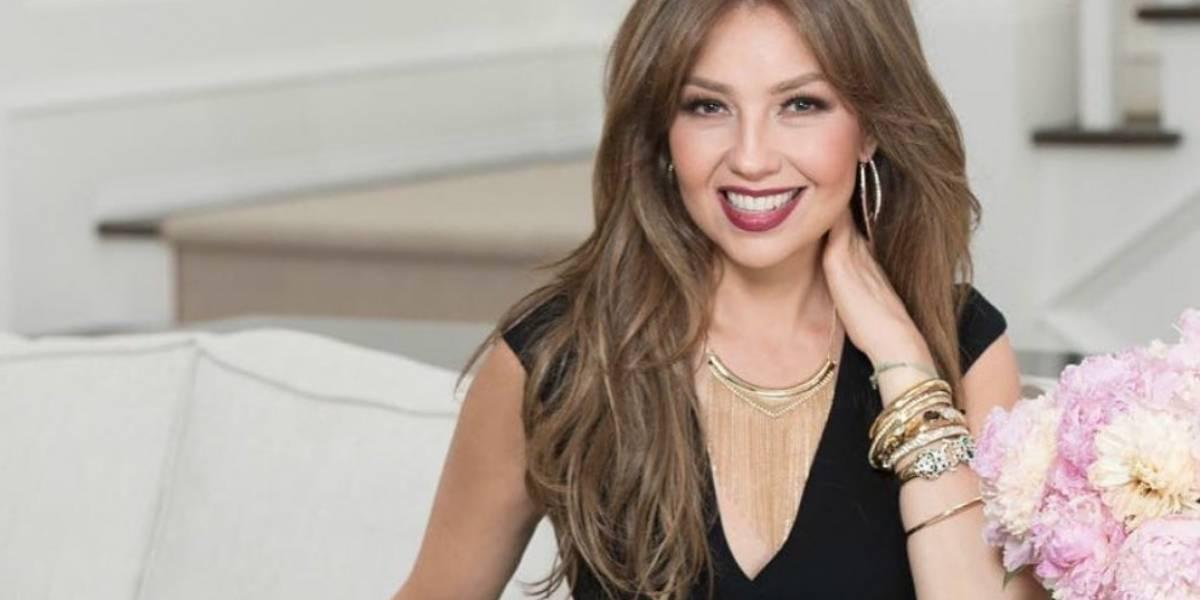 Thalía asiste a los 100 años de su abuela y la critican por su atuendo