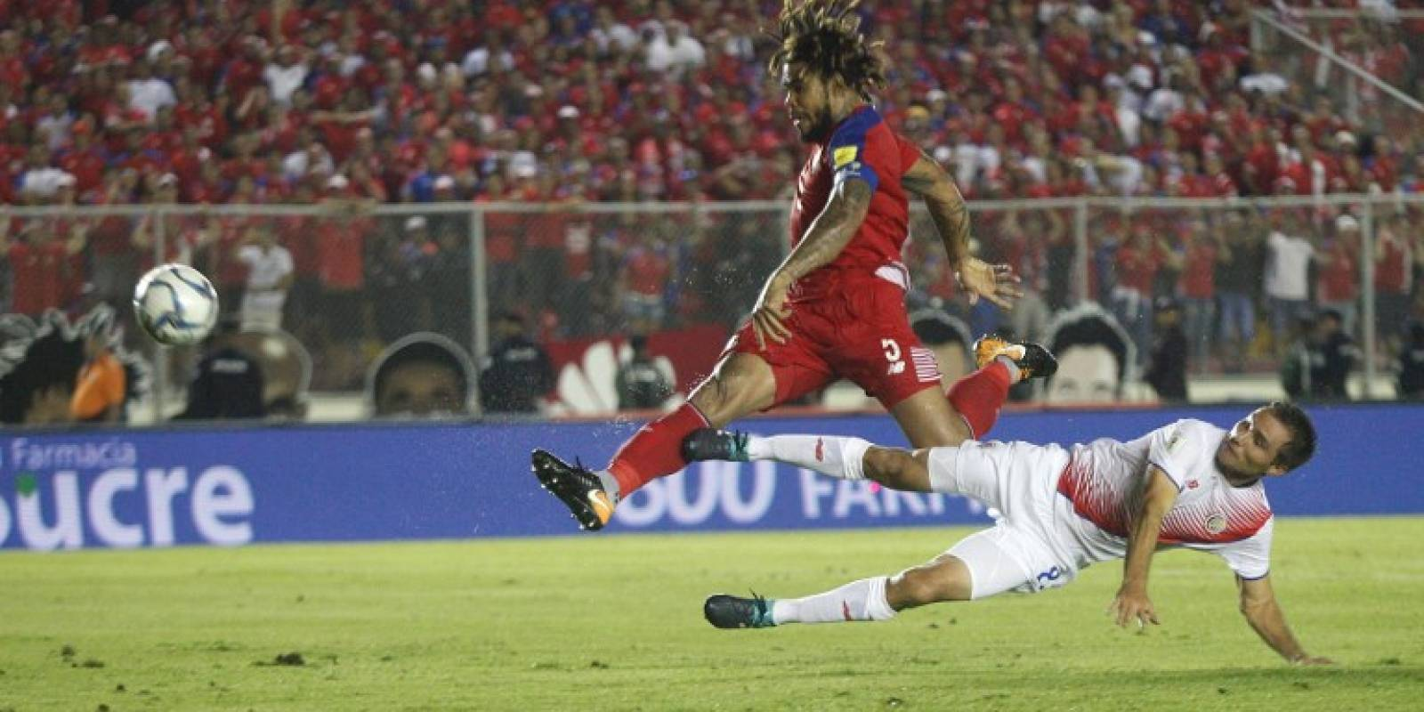 Mazinger Torres consagrando a Panamá (AFP)