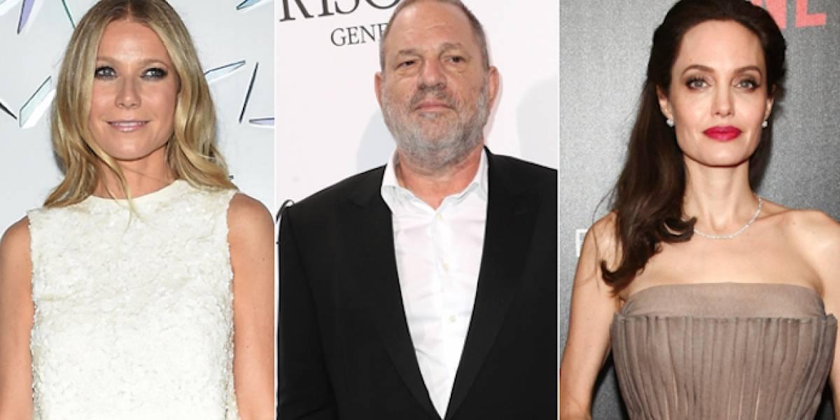 Gwyneth Paltrow y Angelina Jolie, en la lista de Harvey Weinstein