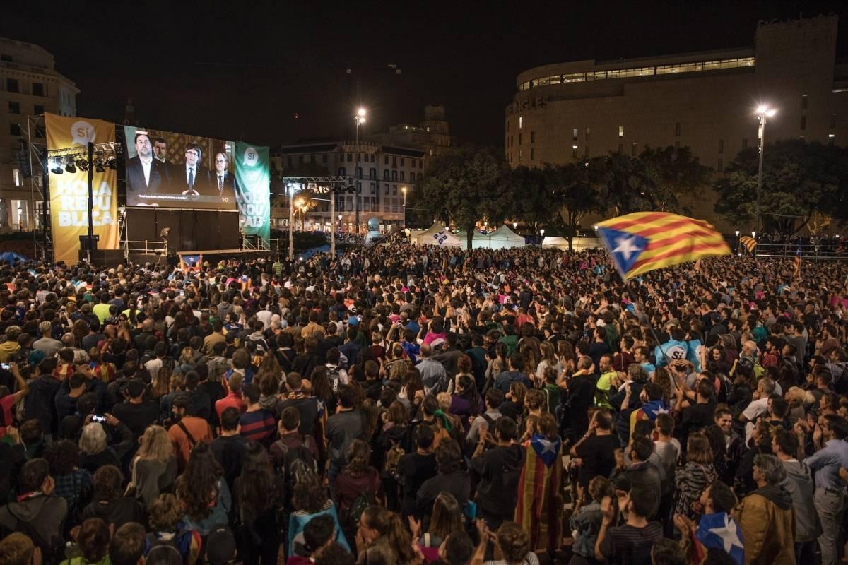 La promesa de independencia de Cataluña llevó a mucha gente a las calles.