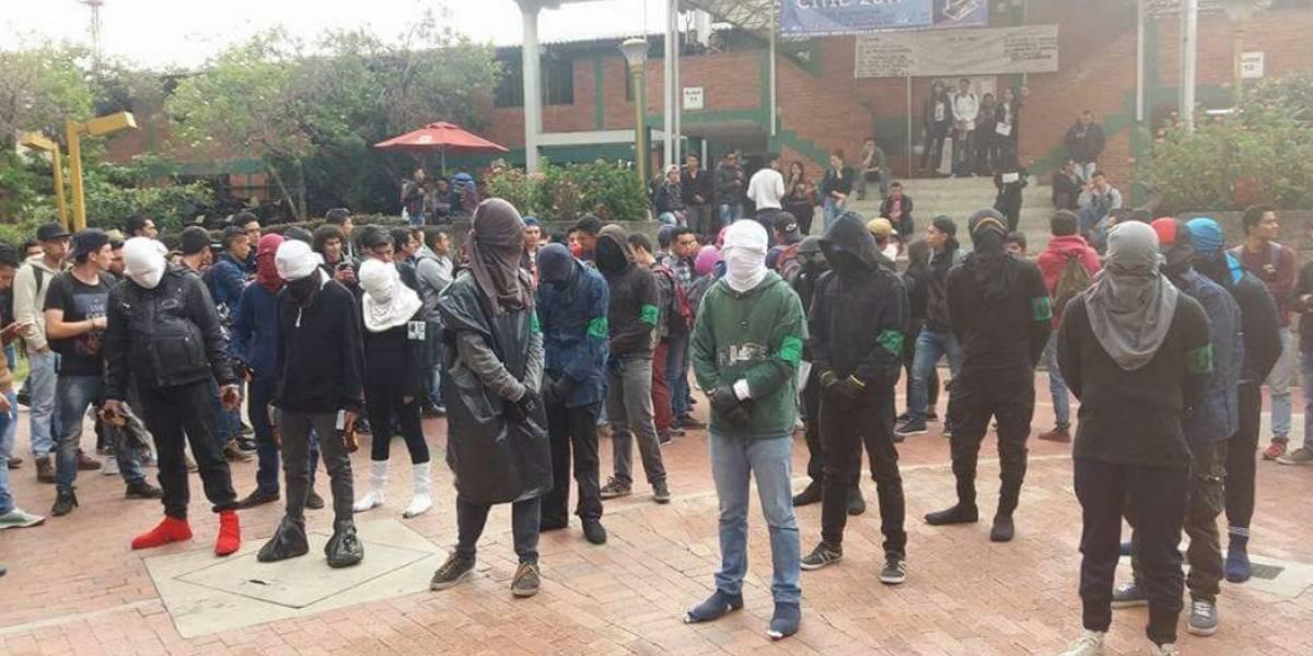 Fuertes disturbios en la Universidad Distrital al sur de la ciudad