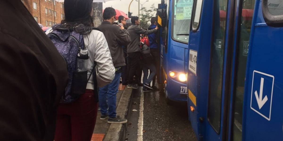 Caos en el sur de Bogotá tras suspensión de rutas del Sitp