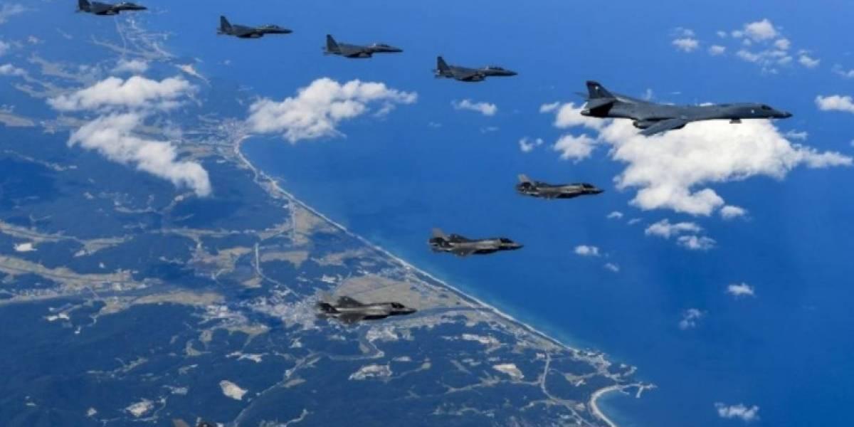 Bombarderos supersónicos de EEUU sobrevuelan en las cercanías de Corea del Norte en demostración de fuerza