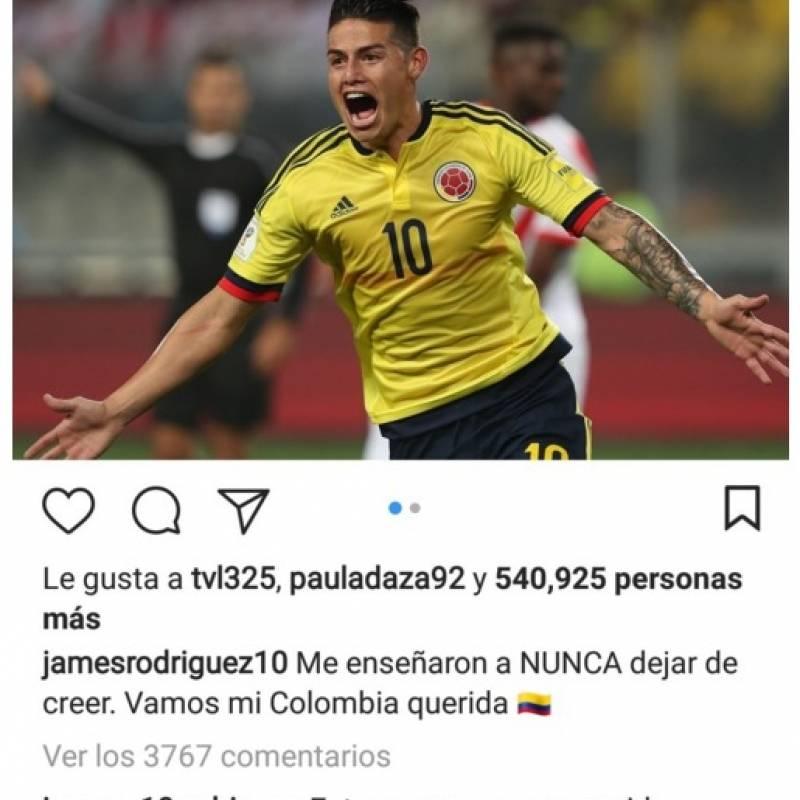 Captura de pantalla Instagram James