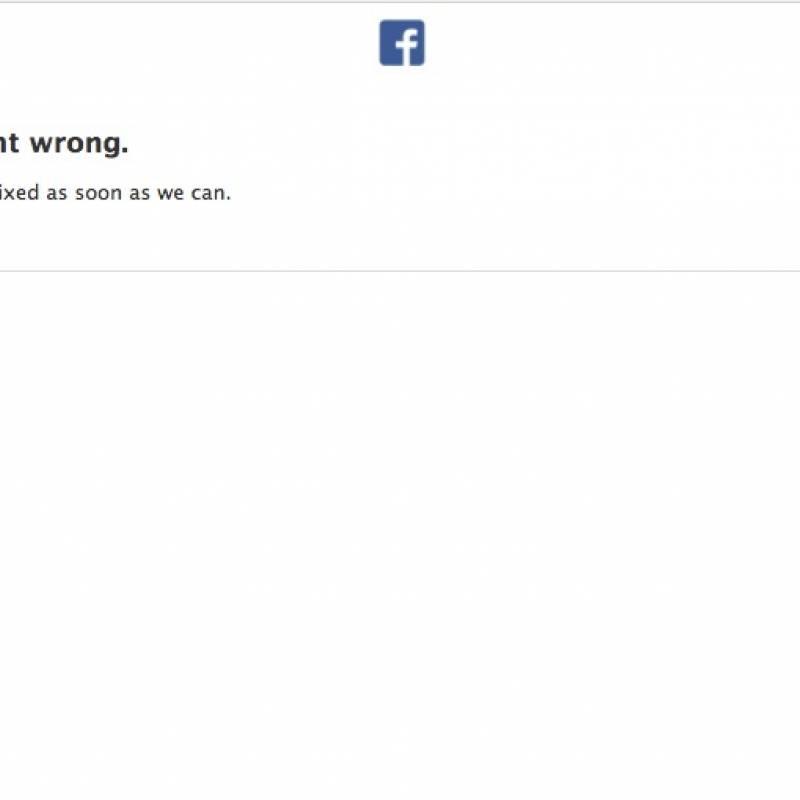 Internet Facebook caído