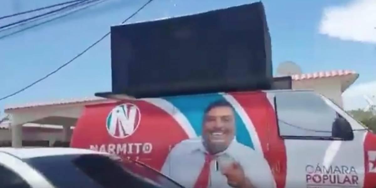 Viral vídeo que denuncia a legislador por presunto robo de suministros