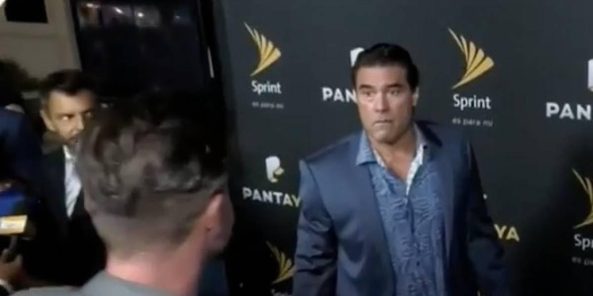 Actor mexicano golpea en plena entrevista a reportero