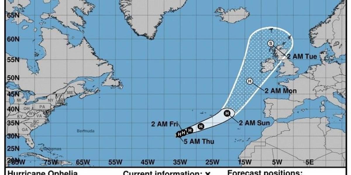 """Un nuevo huracán en el Atlántico: """"Ofelia"""" amenaza a Portugal e Irlanda"""