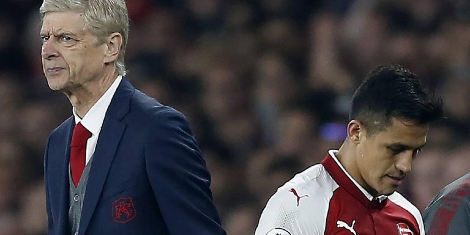 Arsene Wenger y Alexis Sánchez