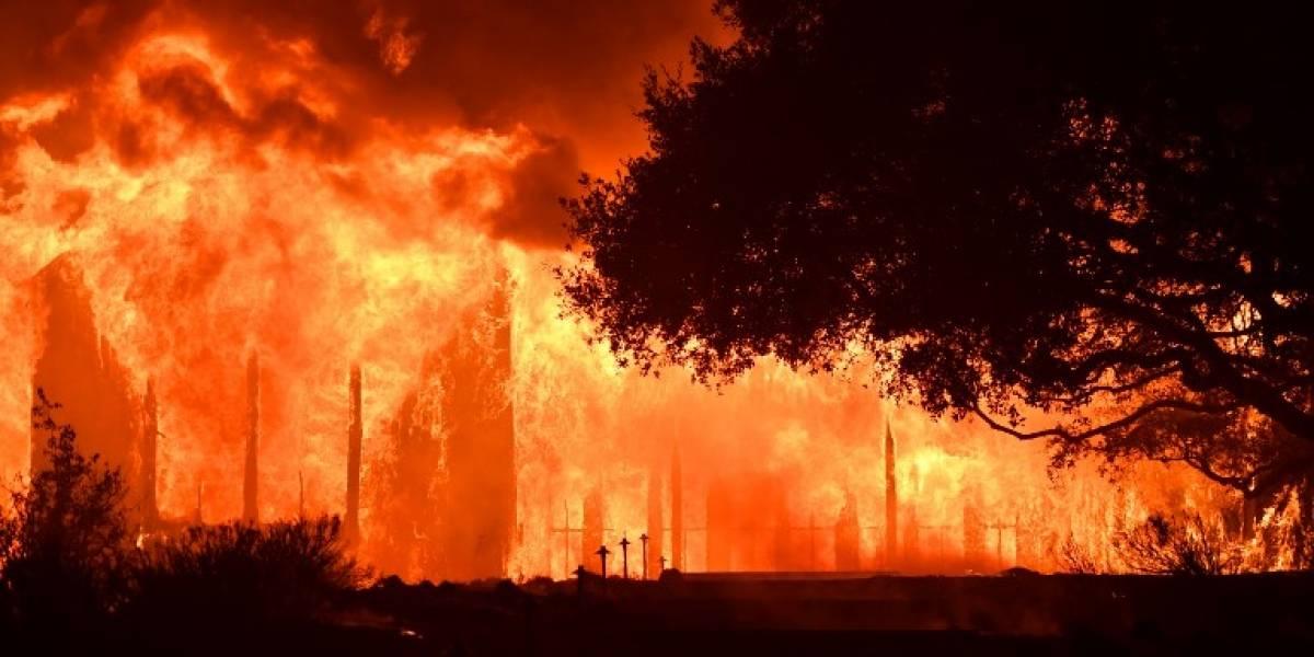Bomberos buscan a víctimas de incendios en California