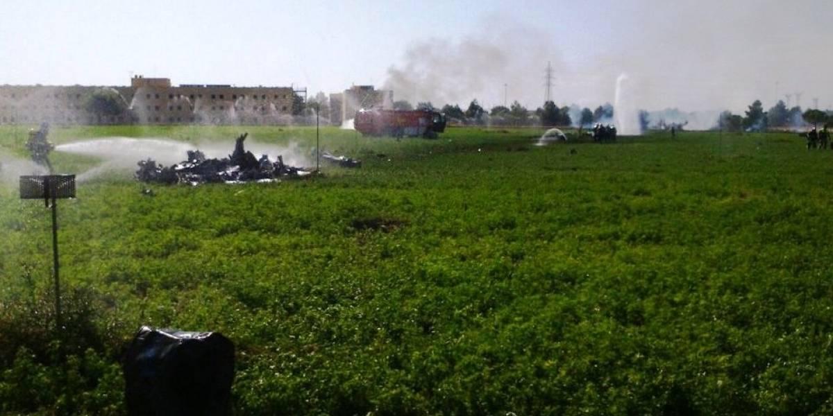 Tragedia en España: muere piloto tras estrellarse avión militar luego de participar en actos del Día de la Hispanidad